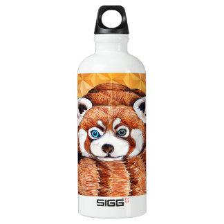 Red panda on orange Cubism Geomeric Water Bottle