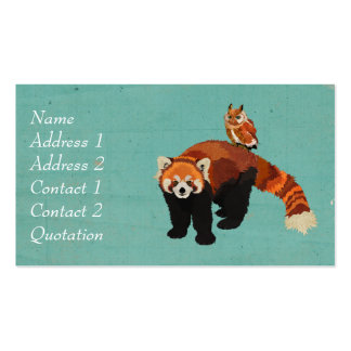 Red Panda & Owl Business Card