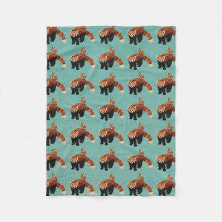 Red Panda & Owl Fleece Blanket