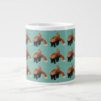 Red Panda & Owl Mug 20 Oz Large Ceramic Coffee Mug