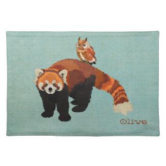 Red Panda & Owl Placemat