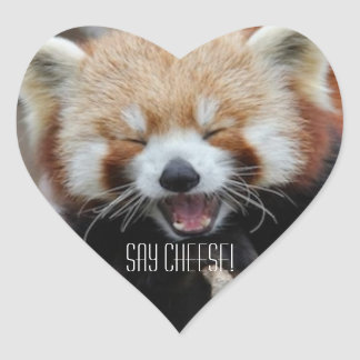 Red Panda - Say Cheese! Heart Sticker