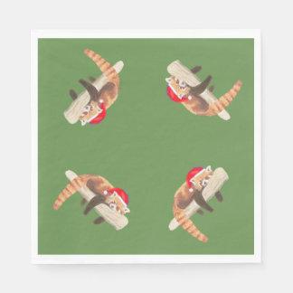 Red Panda serviettes, napkins Paper Napkins