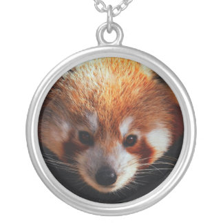 red panda silver plated necklace