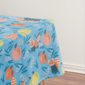 'Red Panda' Sky Blue Apple Table Cloth