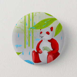 Red Panda Slinky 2 Inch Round Button