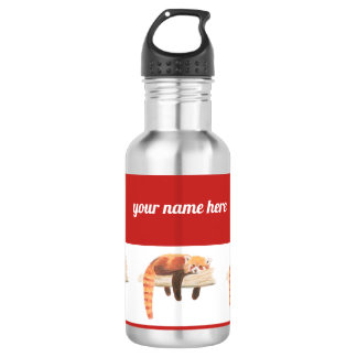 Red panda water bottle, chilling out 532 ml water bottle