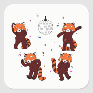 Red Pandamonium Stickers