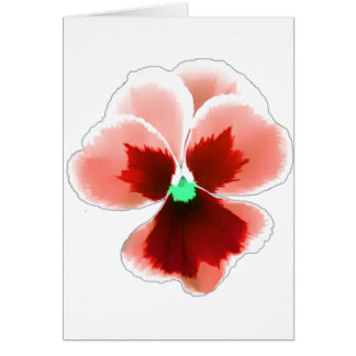 Red Pansy 201711b Card