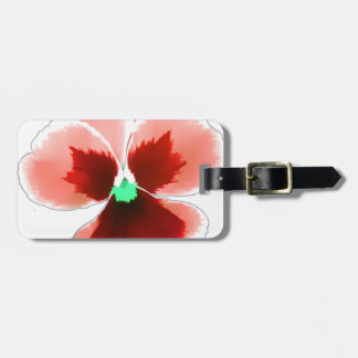 Red Pansy 201711b Luggage Tag