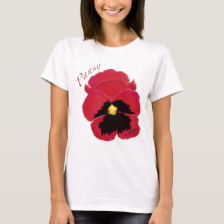 Red-Pansy t shirt