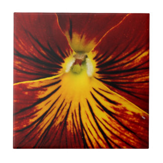 Red Pansy Tile