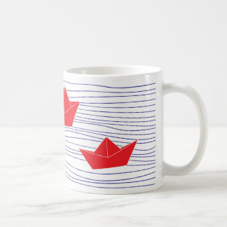 Red Paper Boats mug
