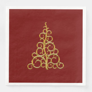 Red Paper Christmas Table Napkin Disposable Napkin