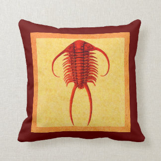 Red Paraceraurus Fossil Trilobite Pillows
