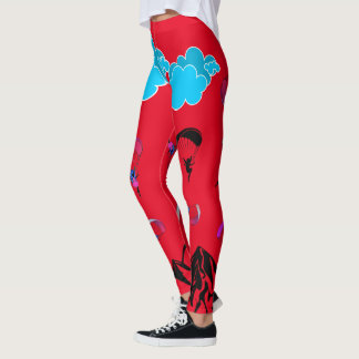 Red Paragliding Pixie Leggings