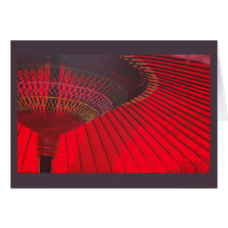 Red Parasol Card