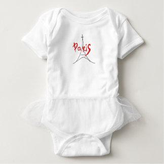 Red Paris Stylish Baby Skirt Bodysuit