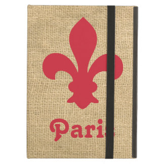 Red Parisian Moods Fleur de Lys Cover For iPad Air