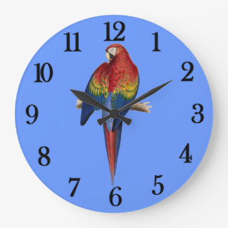 Red parrot clock