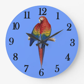 Red parrot wall clocks