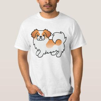 Red Parti-Color Tibetan Spaniel Dog T-Shirt