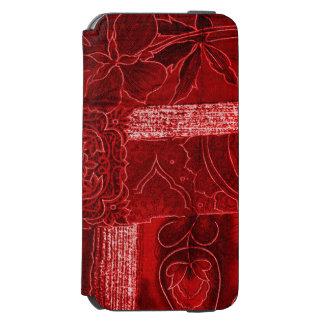 RED PATCHWORK INCIPIO WATSON™ iPhone 6 WALLET CASE