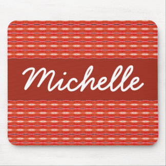 Red Pattern Mouse Pad
