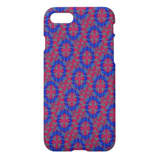 Red pattern with blue circle iPhone 7 case