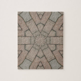 red pavers gardners kaleidescope abstract art jigsaw puzzle