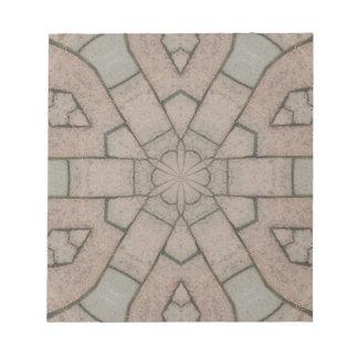 red pavers gardners kaleidescope abstract art notepad