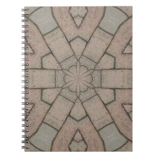 red pavers gardners kaleidescope abstract art spiral notebooks