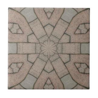 red pavers gardners kaleidescope abstract art tile