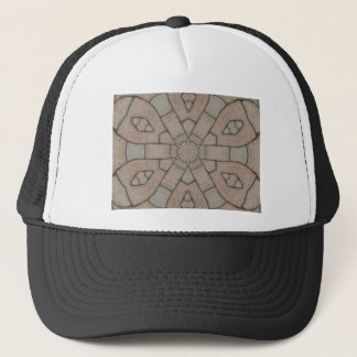 red pavers gardners kaleidescope abstract art trucker hat