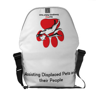 Red Paw Bag Courier Bag
