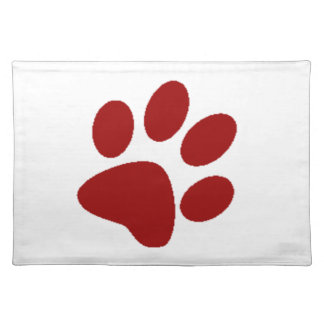Red Paw Print Placemat