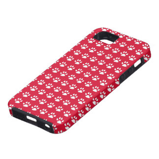 Red Pawprints iPhone 5 Covers