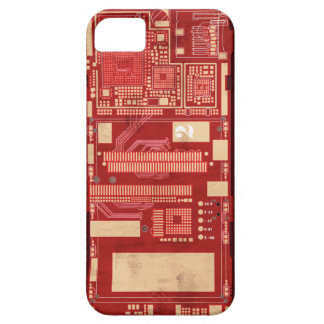 Red pcb circuit boart iPhone 5 case