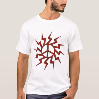 Red Peace Sigh Star T-Shirt
