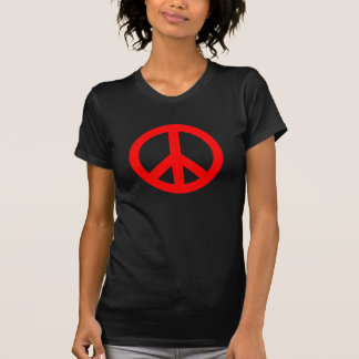 Red Peace Sign T-Shirt