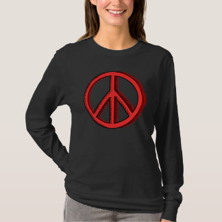 Red  Peace Sign Woman's T-shirt