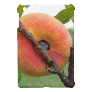 Red peaches hanging on the tree . Tuscany, Italy iPad Mini Case