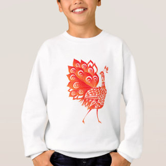 Red peacock sweatshirt