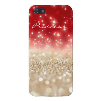Red & Pearl Glitter look iPhone 5/5S Case