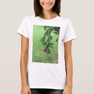 Red pears hanging on a growing pear tree T-Shirt