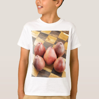 Red Pears on a Wooden Chess Board T-Shirt
