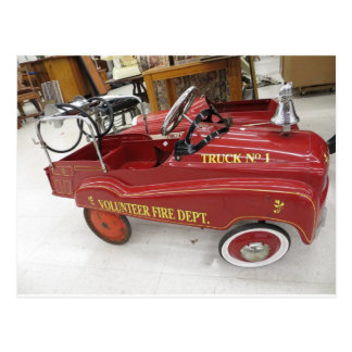 Red Pedal Car Postcard