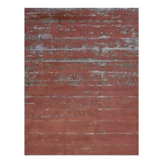 Red Peeling Wood Letterhead