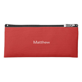 Red Pencil Case - Personalized Kid's Pencil Case