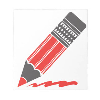 red pencil notepad